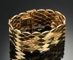 Lauritz.com - Armbänder - Guldarmlænke 18 kt. - 45,6 gram - DK, Herlev, Dynamovej