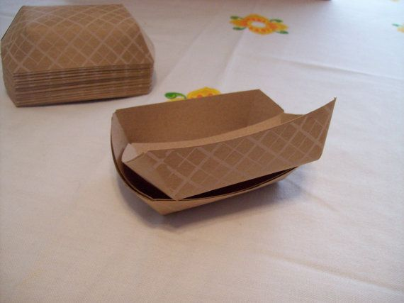 Paper Food Trays 25 Small Kraft Food Trays by alittlegathering