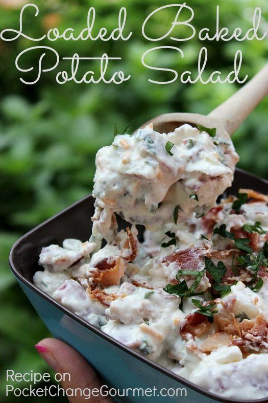 Loaded Baked Potato Salad :: Recipe on PocketChangeGourmet.com