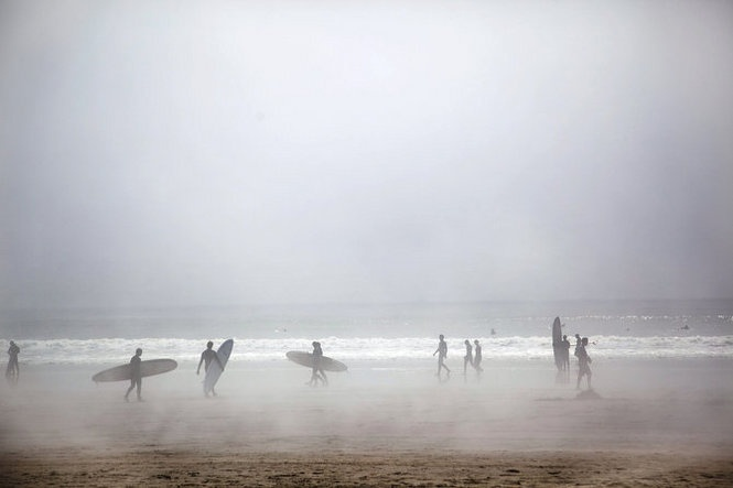 Surfers at Oswald State Park (Short Sands) on the #Oregon coast.