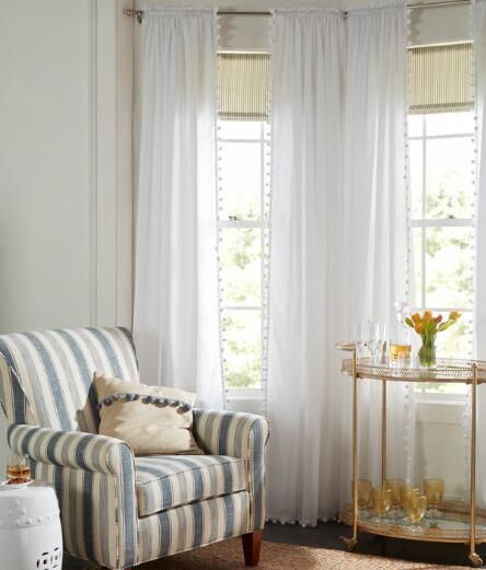 Best Cortinas Images On Pinterest Curtains Sew And Window - Classic ball fringe curtains