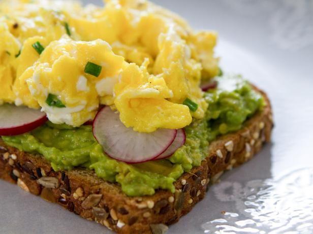 Trisha Yearwood Food Network  Get Avocado Toast with Creamy Soft Scrambled Egg Recipe from Food Network