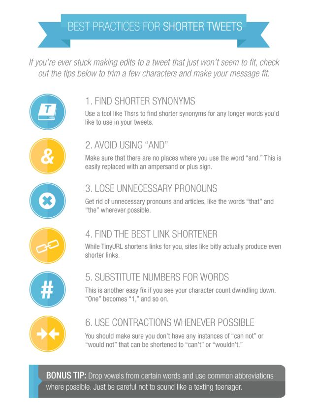 Best practices for shorter tweets #infografia #infographic #socialmedia