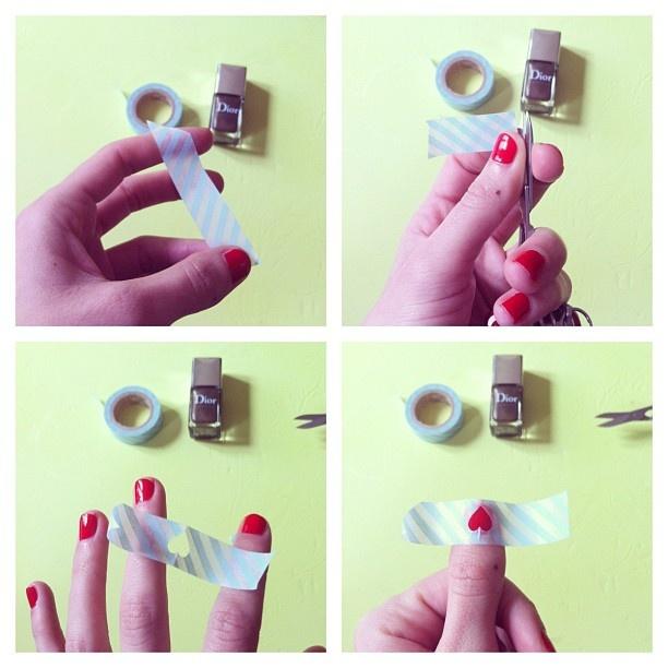 Comment faire votre manucure ? une forme par dessus l'ongle , une nouvelle couleur et le tour est joué !