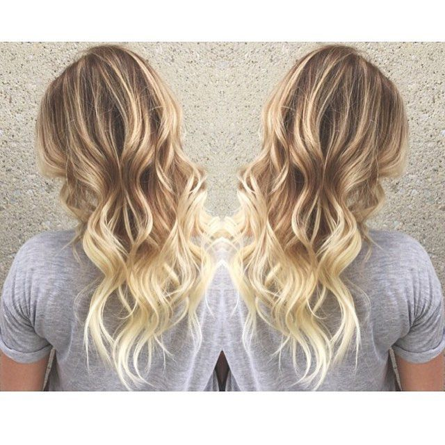 Pretty blonde ombre hair painting :: RedBloom Salon