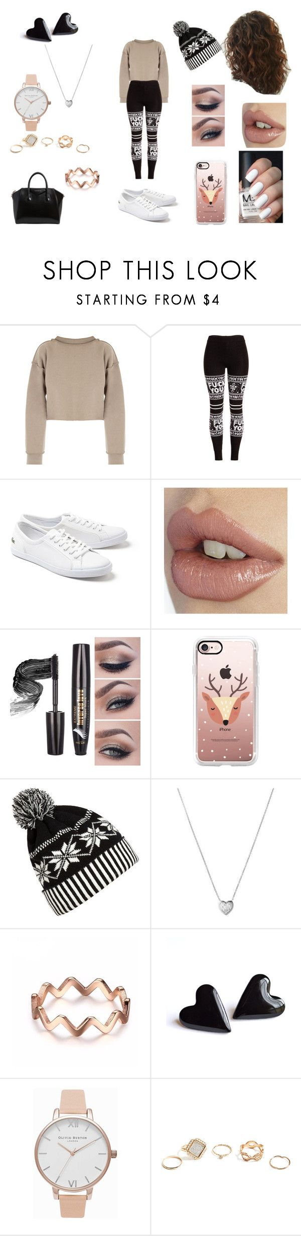 """""""Last Minute Christmas Shopping"""" by roxy-crushlings ❤ liked on Polyvore featuring My Mum Made It, Lacoste, Casetify, WithChic, Links of London, Olivia Burton, GUESS and Givenchy"""