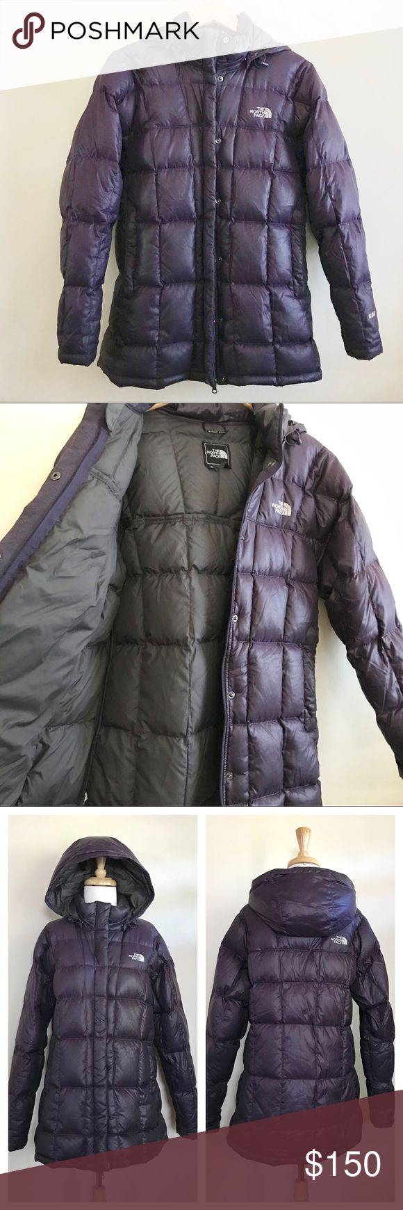 ️NORTH FACE ️600 Purple Hooded Down Coat LARGE Down coat