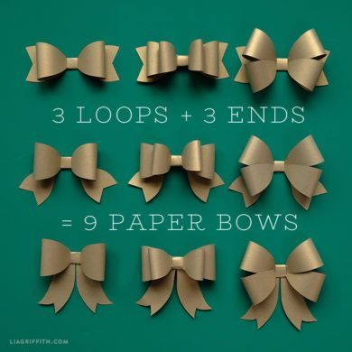 20 best bows images on pinterest paper bows ties and crowns create a beautiful variety of paper bows with our printable templates and your favorite metallic papers pronofoot35fo Gallery