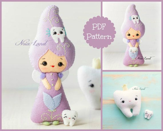 This PDF sewing pattern is to make the tooth fairy and the big tooth from felt fabrics. These dolls are hand sewn.  Finished size: Fairy: 8  Tooth 4  THIS IS NOT A FINISHED DOLL. Pattern does not include Doll, supplies or fabric.  Language: English  THIS PDF e-Pattern includes: . Step by step photo tutorial. . A material and supply list. . Full size pattern pieces just Print and Sew! (No need to enlarge or resize!)  Skill Level: easy/ intermediate (are suitable for all levels of sewers) ...