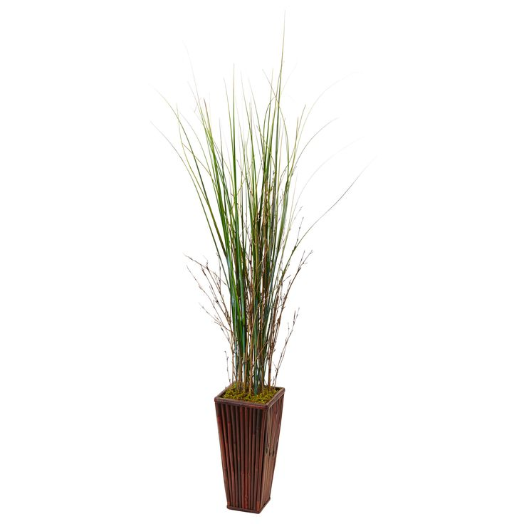 If you think you don't have room for a plant, think again. This tall faux bamboo grass is only one foot wide, so it will fit in areas you may have not thought of, like bathrooms and hallways. But it's attractive in the living room as well, thanks to the included Asian-themed bamboo planter.