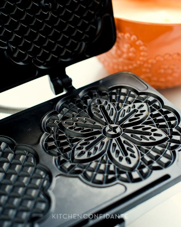 Authentic Pizzelle   Kitchen Confidante   Italian Waffle Cookie Recipe   Pizzelle Maker