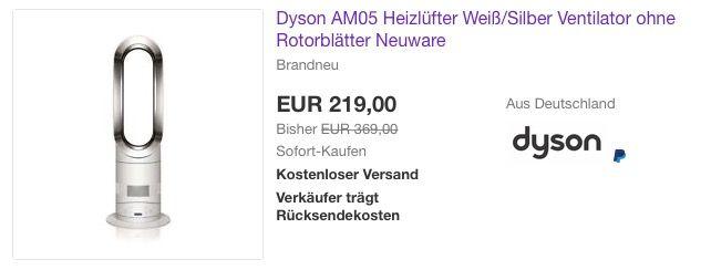 Dyson Am05 Heizlufter Weiss Silber Ventilator Ventilator Kuche Und Haushalt Haushalt