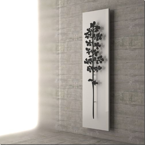 Eco-Artistic radiator by Salice is constructed of recycled aluminum instead of steel, and boasts that it uses far less water to create highly efficient heat in the home.