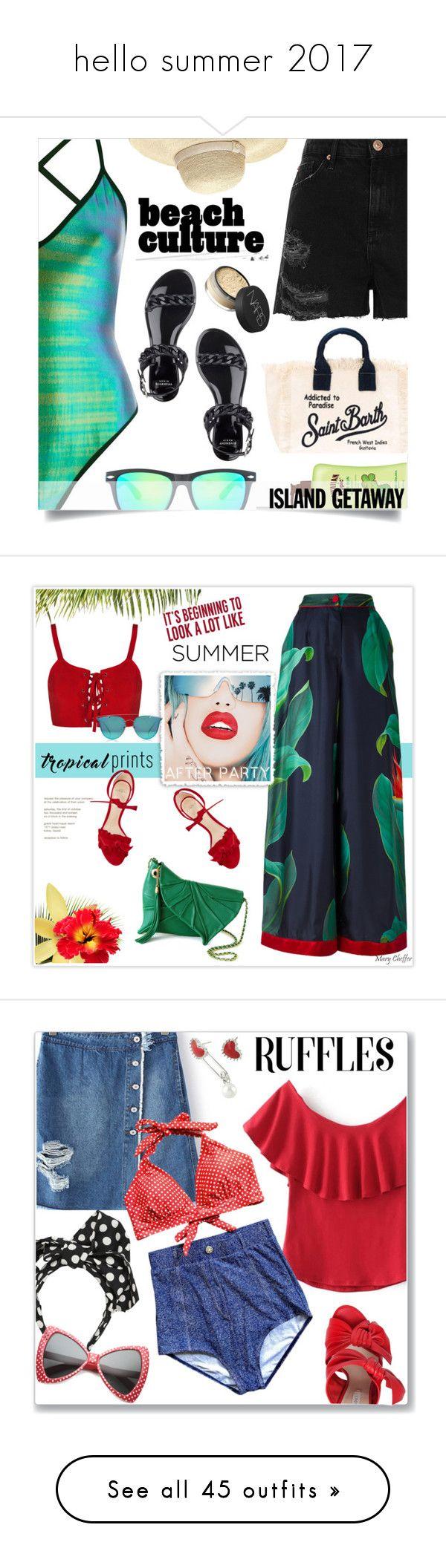 """hello summer 2017"" by polinachaban ❤ liked on Polyvore featuring River Island, Givenchy, Heidi Klein, MC2, Hawaiian Tropic, NARS Cosmetics, islandgetaway, F.R.S For Restless Sleepers, Rupaul and Sixtrees"
