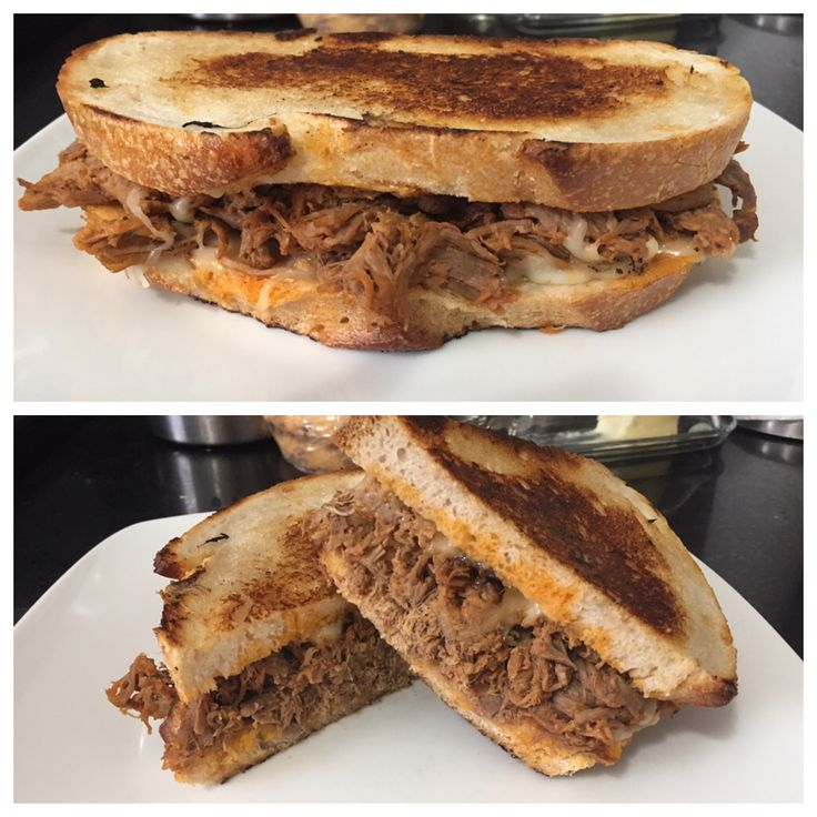 [Homemade] Pork and cheddar sandwich with slow cooked pork