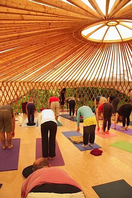 Yoga studio yurt