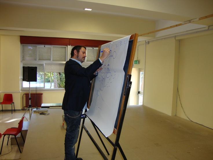 David Rubin disegna l'orso malese. Latina scuola elementare 4° circolo Via Sezze