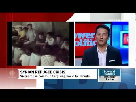 This video is an excellent example of the ongoing trend by Vietnamese refugees giving back by helping recent refugees who have been resettled in Canada.  It is wonderful to see this role reversal situation as Vietnamese Canadians demonstrate their generosity and kindness to Canada's newest refugees.  This is an excellent example of how refugees actively and positively contribute to Canadian society.