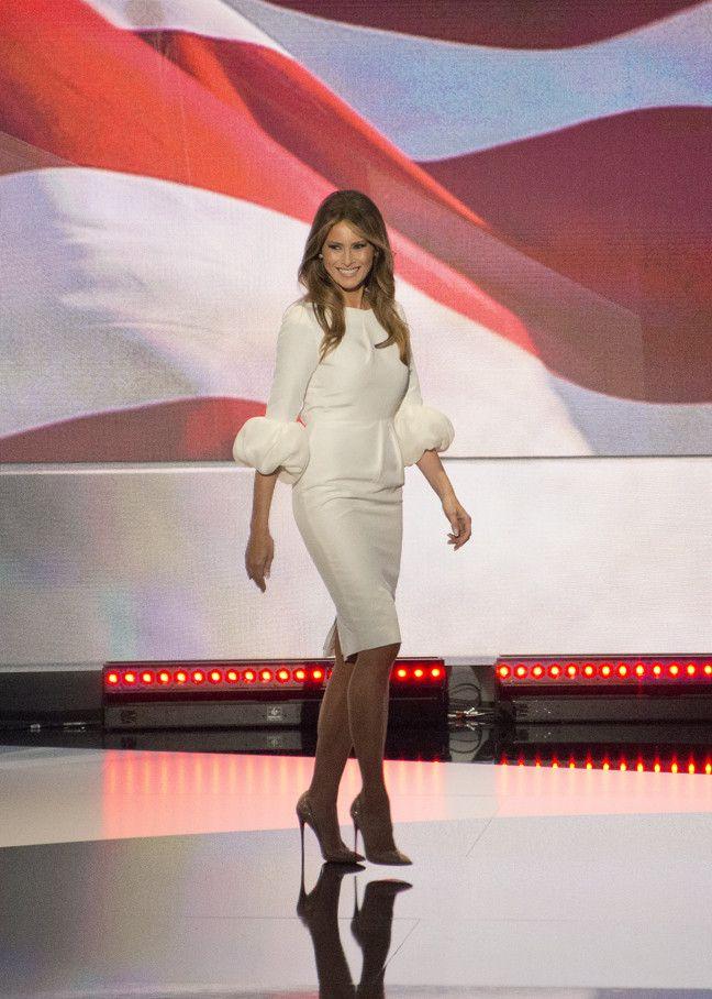 Melania Trump rocks a wedding dress at the RNC