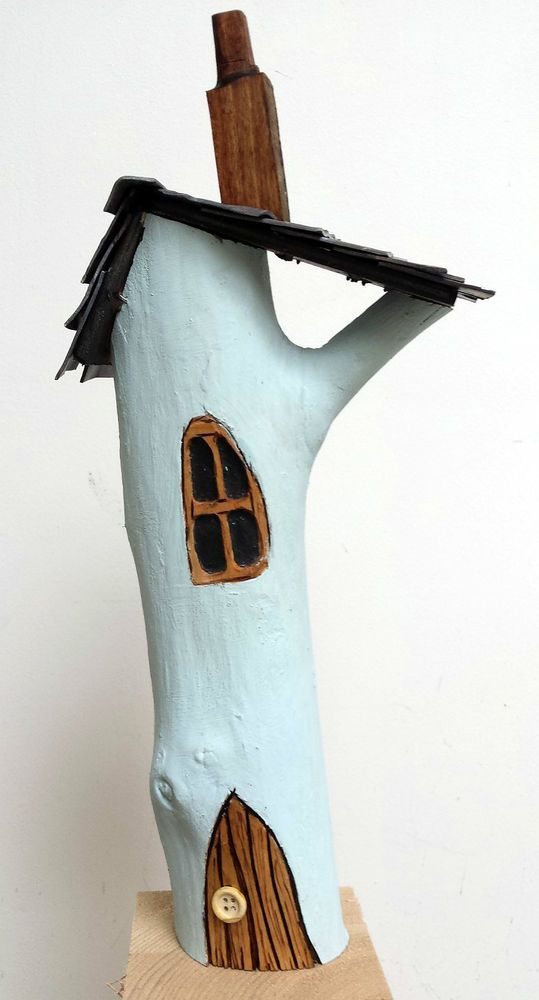 OOAK original fairy door house wooden wood art handmade magic