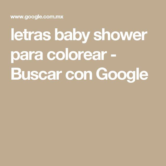 letras baby shower para colorear - Buscar con Google