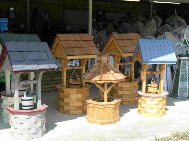 how to build a round wooden wishing well - Google Search