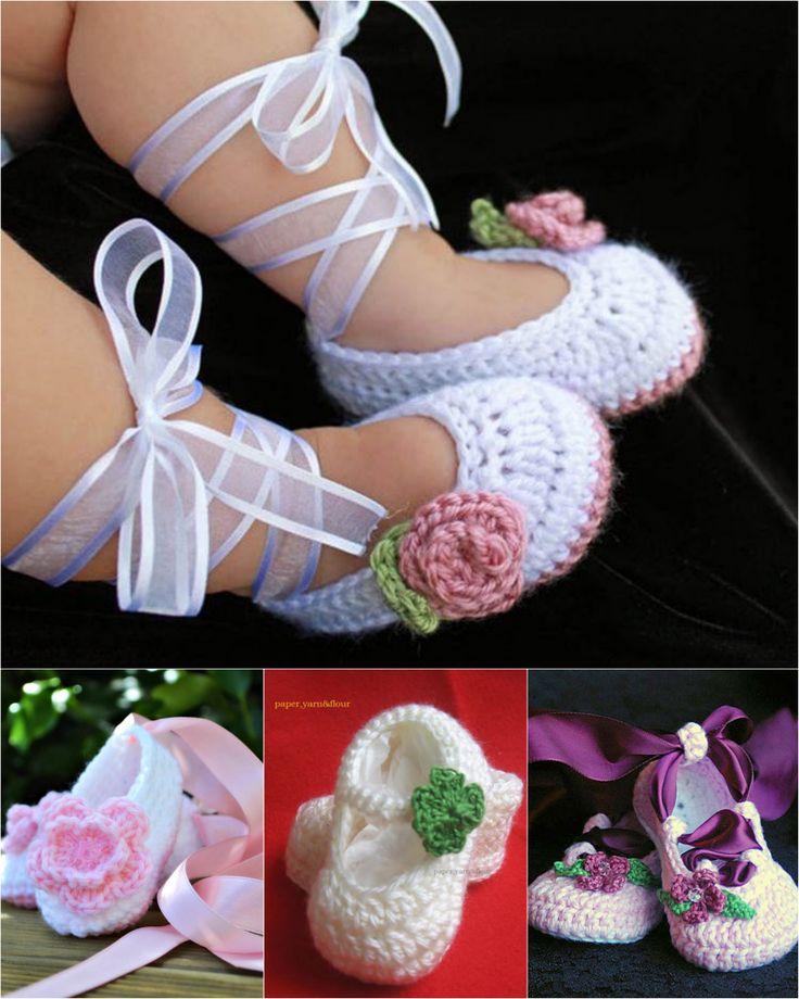 Ballerina Crochet Booties - FREE Patterns