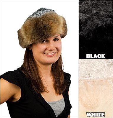 Bear Cottage - Fur Trim Hat - Champagne or Black | Shop New Zealand NZ$ 135.00
