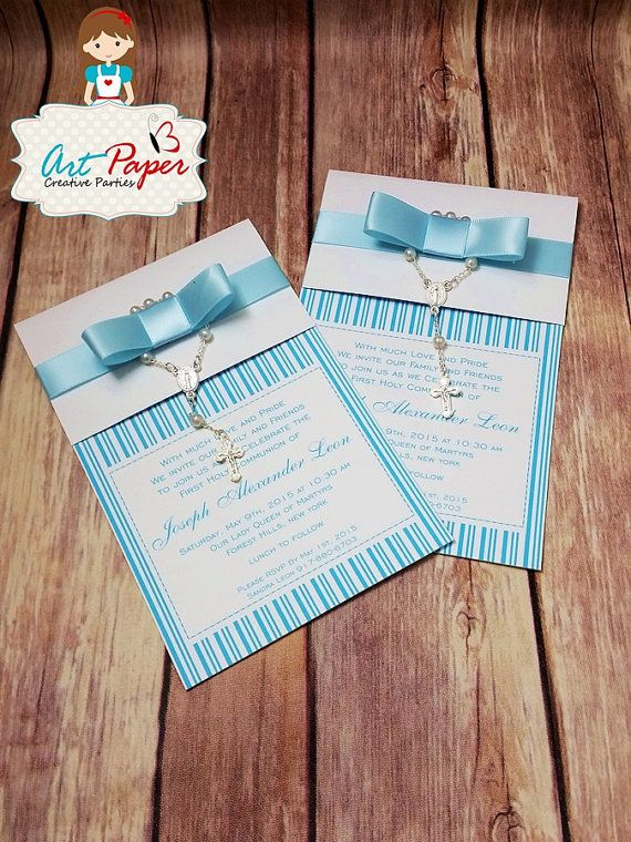 20 Baptism or first communion invitations with by ArtPaperParty