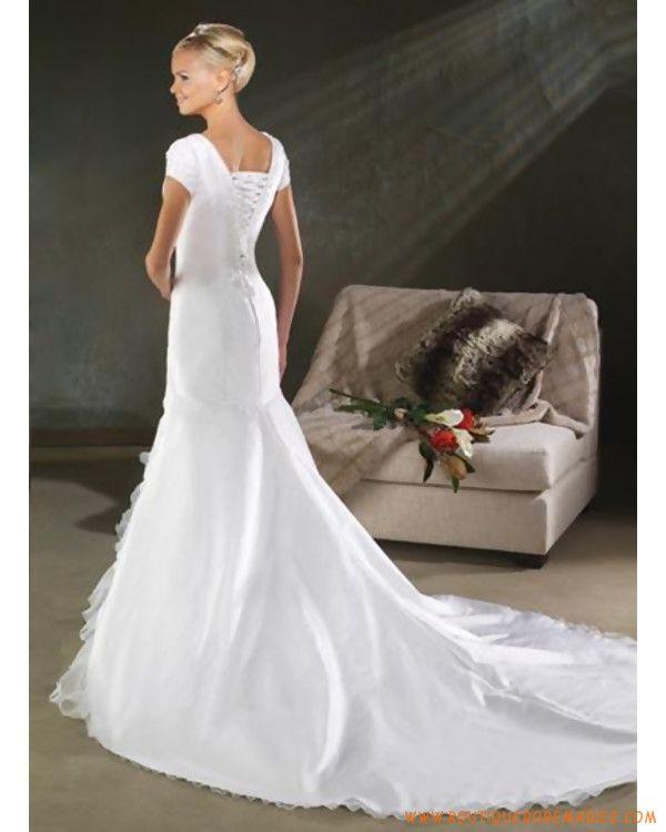 Robe de mariée sirène avec manches