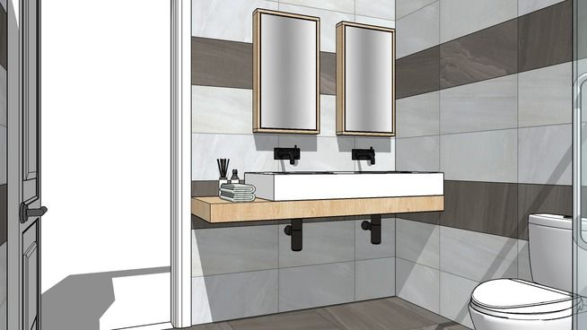 modern bathroom - 3D Warehouse