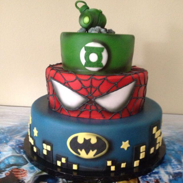 My favorite kids Superhero Birthday cake.