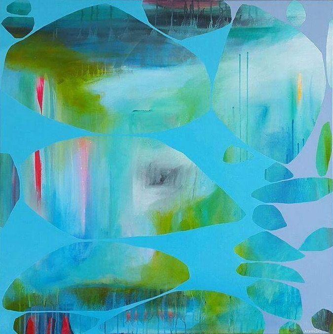 Art by Heidi Achen. 80x80 cm.