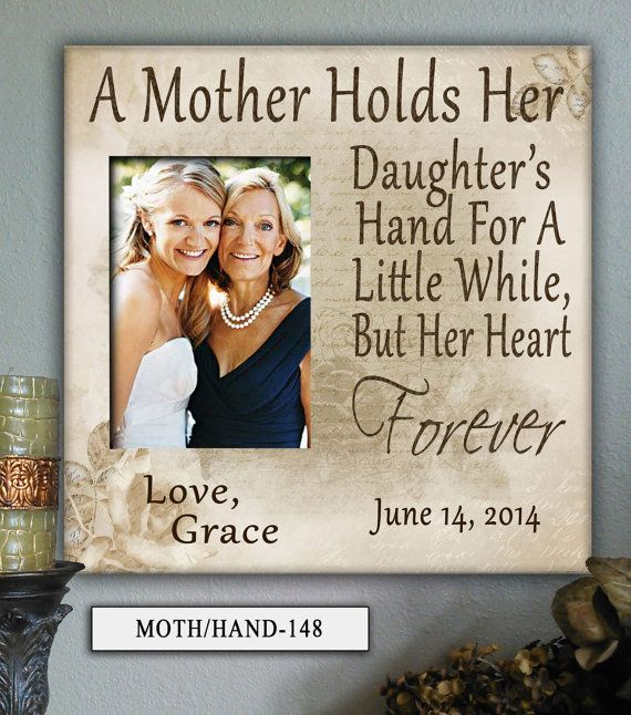 MOTH/HAND:12×12″ Holds 5×7″ Photo Mother in Law, Mom, Mothers Day Frame, Personalized Photo Frame, Wedding Gifts for Parents, Gift for Mom