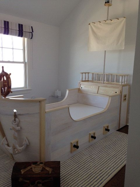 Custom Child's Pirate Ship Bed by FineNestFurnishings on Etsy