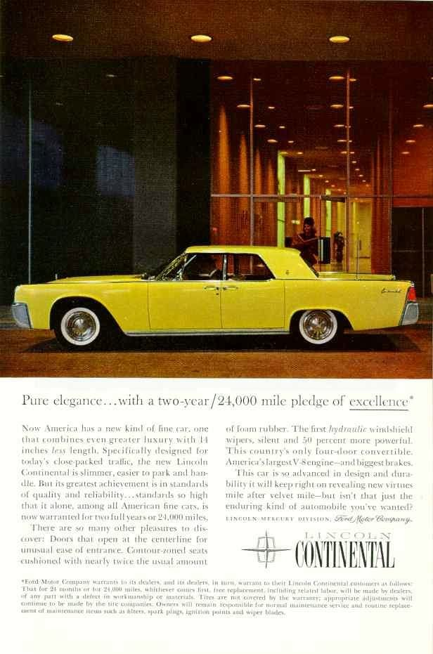 61 Lincoln Continental in sunburst yellow & 42 best FORD MOTOR CO. 1973 - 1979 images on Pinterest | Vintage ... markmcfarlin.com