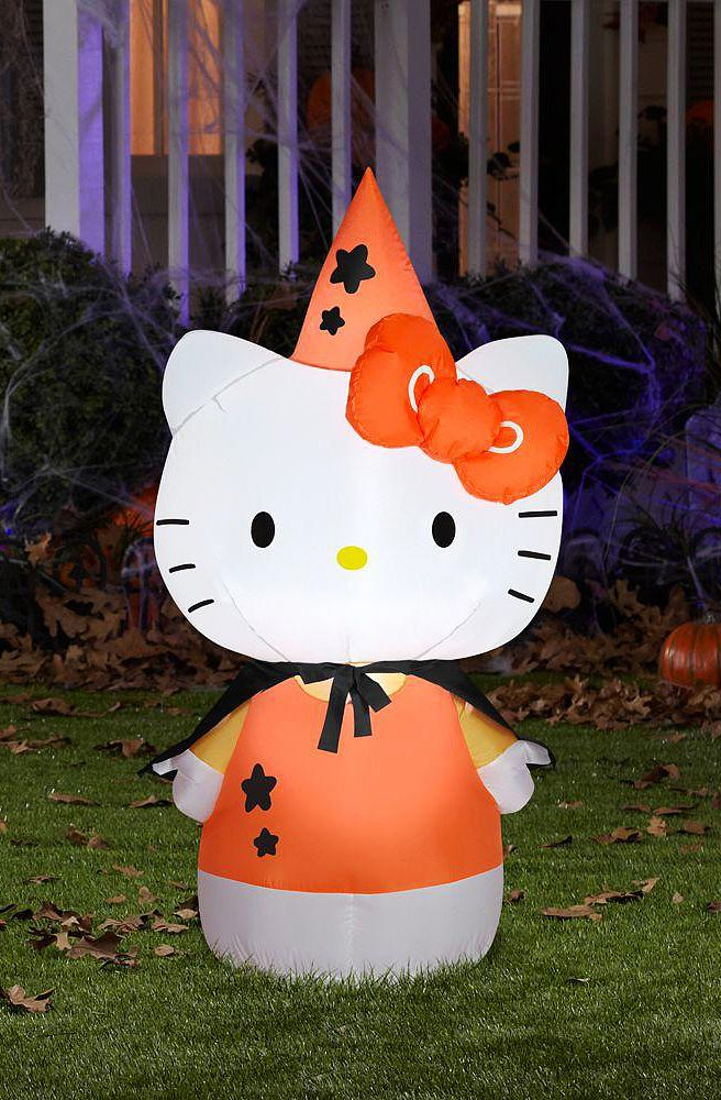 Holiday Living 394-ft x 164-ft Lighted Pumpkin Stack Halloween - hello kitty halloween decorations
