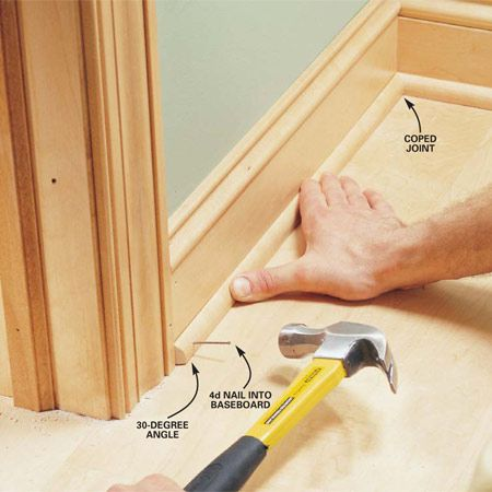 from the family handyman interior trim work basics interior trim work. Black Bedroom Furniture Sets. Home Design Ideas