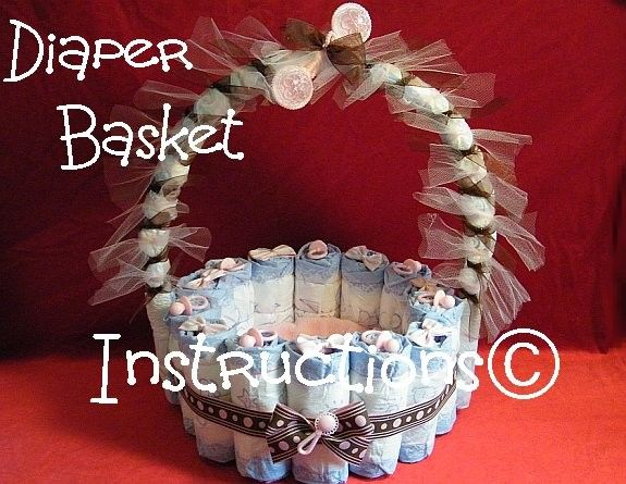 Diaper Basket INSTRUCTIONS. Make it fill it w/ by DiaperZooDesigns, $8.99