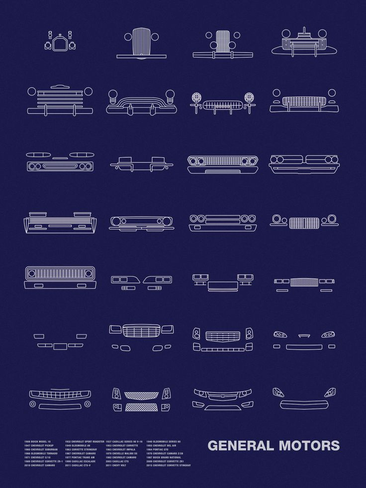 Auto Icon Screen Print Series: General Motors – NOMO Design