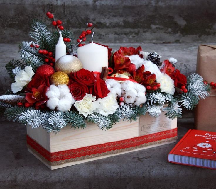 Ещё одна Новогодняя композиция! И всем советуем заглянуть на нашу страницу в вк, есть шанс получить ещё один подарок 31 декабря)🎄🎅🏼❄️ https://vk.com/flowersandwood