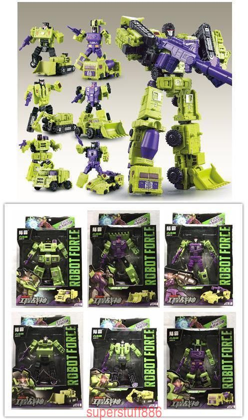 WJ Decepticons Hercules DEVASTATOR Robot 6 In 1 Engineering Car Action Figure