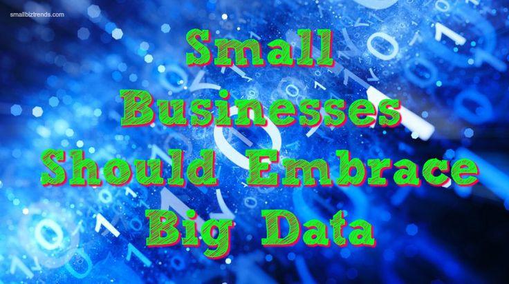 Why You Should Embrace Big Data / smallbiztrends.com