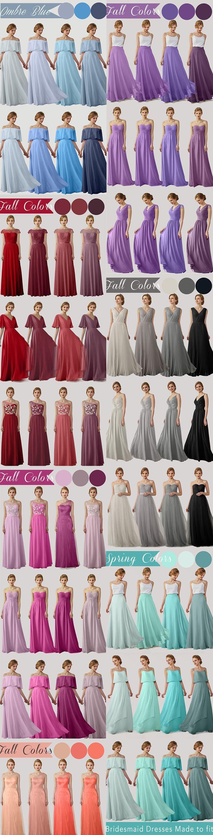 2018 all Elegant V-neck bridesmaid dresses illusion one shoulder dresses with la #fashion #style #stylish #love #cute