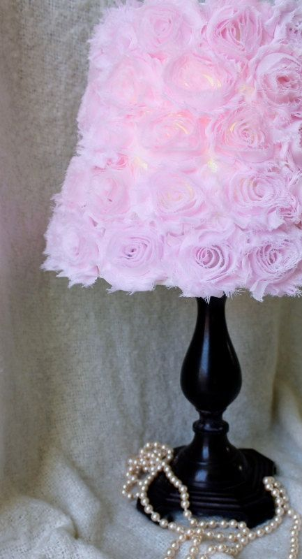 Paralume Rose Shabby Chic paralume, Shabby Chic Decor di vivaio, vivaio paralume, paralume, Shabby Chic paralume, lampada Rose Shade