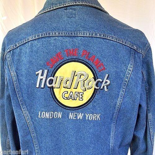 Jaqueta jeans da Hard Rock Cafe.