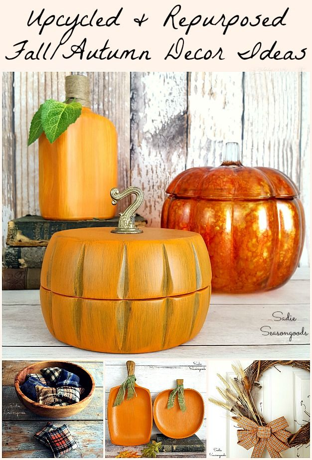 New Repurposed Fall Crafts