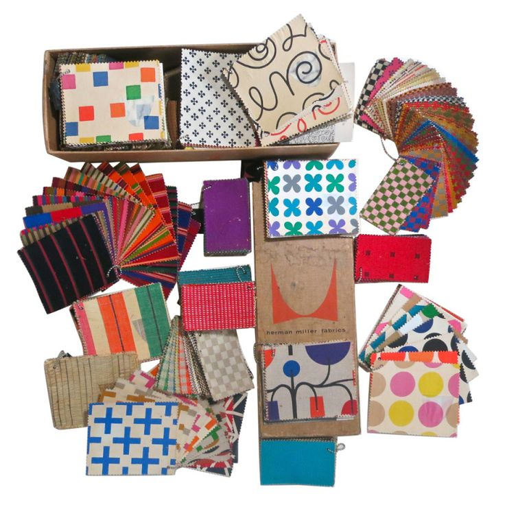 Alexander Girard Swatch Archive - Over 500 swatches of fabric designed by Alexander Girard for Herman Miller