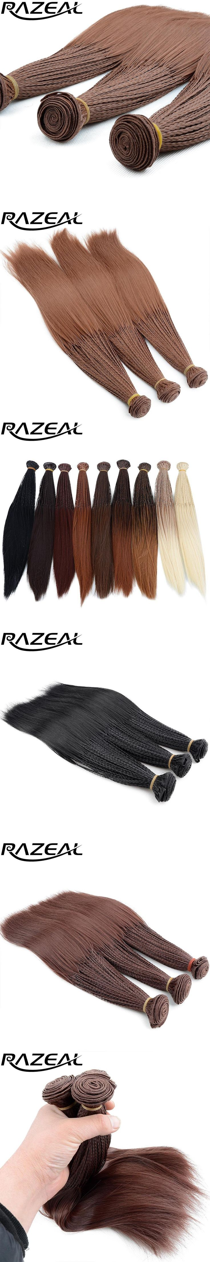 Razeal Black Blonde Synthetic Braiding Hair Ombre Braid Extensions 14 Inch 280 Roots/Pack Crochet Braids Synthetic Hair Weave