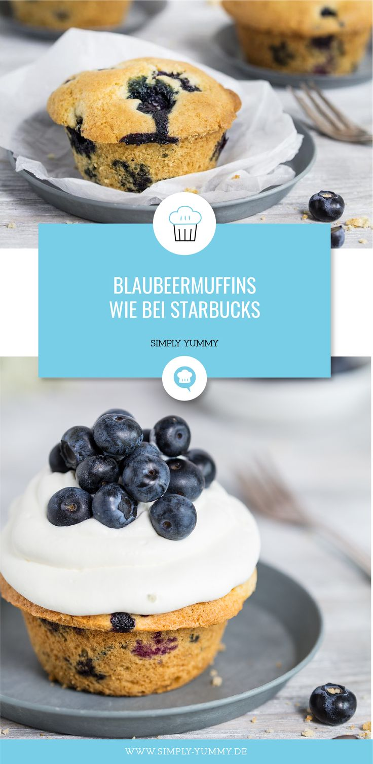 Blueberry muffins with crumble  – Alle Rezepte von SIMPLY YUMMY